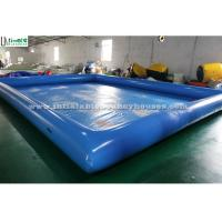 China Regular rectangle blue water ball inflatable water pool for kids water fun in summer on sale