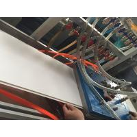 Buy cheap 300mm PVC Ceiling Panel Profile Extrusion Line Conical Double Screw Extruder from wholesalers