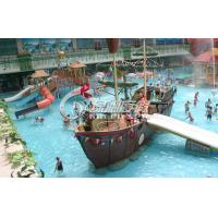 China OEM Pirate Ship Kids water slide playground for Park Play Equipment with Water Spray on sale