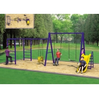 Quality Face To Face Baby ASTM Swing And Slide Set for sale