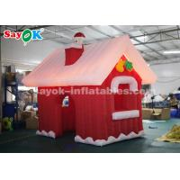 Wholesale 3m Inflatable Christmas Santa Claus House with LED lights for Christmas Decoration from china suppliers
