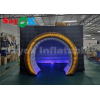 Buy cheap Foldable LED Promotion Inflatable Photo Booth With Air Blower Black Color from wholesalers