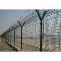 China Barbed Welded Wire Mesh Fence Panels , Size Customized Y Post Fence For Industry on sale