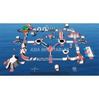 Customized Floating Inflatable Aqua Park Inflatable Aquatics Park For Sea