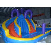 Wholesale 0.55mm PVC Kids Inflatable Water Slide Pool / Jumping Bouncer Castle With Air Blower from china suppliers