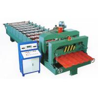 Wholesale Green Color Glazed Tile Roll Forming Machine With 3 - 6m / Min Processing Speed from china suppliers