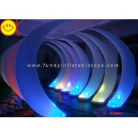 Wholesale Shiny Inflatable LED Ivory Inflatable Advertising Colorful Lighting Event Party Tusk Oxford Decorative Cresent Balloon from china suppliers