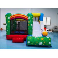 3.55*3.3*2.5m Inflatable Sports Games / Inflatable Unicorn Bouncer With Slide