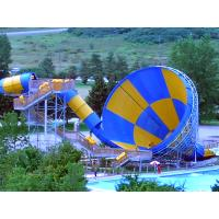 Wholesale Grand Amazing Fiberglass Aqua Park Equipment Tornado Slide 4 Person / Raft With 15m Diameter from china suppliers