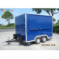 Quality Fast Mobile Food Trailer Heavy Duty Square Mobile Catering Trailer for sale