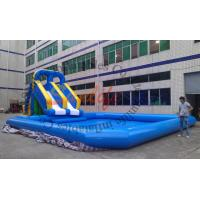 China Giant Commercial Outdoor Inflatable Water Slide With A Pool For Parks on sale