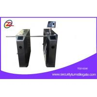 China Pedestrian Waist High Tripod Turnstile Gate With Face Recognition , Semi Auto on sale