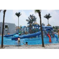 Wholesale Wavy 2 Slides Steel Aqua Playground Interactive Water House , Corrosion Prevention from china suppliers