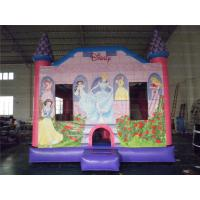 China 15 Feet C4 Princess Inflatable Bounce House Castle With Slide on sale