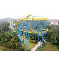 Quality Rollercoaster RidesPlayground Equipment Slide , Loop Cock Screw Coaster for sale