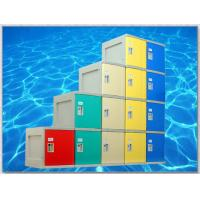 Plastic Gym Lockers Wtih Master Combination Padlock , 4 Tier Employee Storage