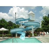 Wholesale Commercial 6m Swimming Pool Water Slides Spiral For Holiday Resort from china suppliers
