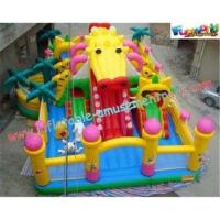 Buy cheap Custom Design Commercial 0.55mm PVC Tarpaulin Inflatable Amusement Park for Kids from wholesalers