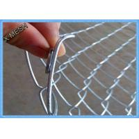 Wholesale Heavy Duty Chain Link Fence Fabric , Twisted Edge Wire Fence Panels 50 X 50mm from china suppliers