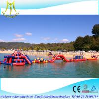 China Hansel popular inflatable water slide with pool for summer vacation on sale