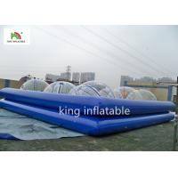 China Commercial Blue Inflatable Swimming Pool For Adults 1.3m High Rent on sale