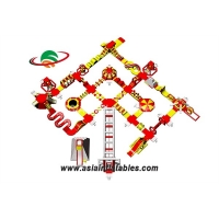 Customized Red Floating Inflatable Sea Park Inflatable Water Island