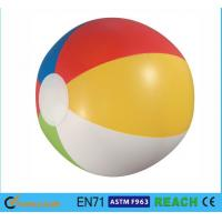 Wholesale Glossy Panel Colorful Beach Balls , High Safety Personalized Mini Beach Balls from china suppliers