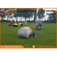 Wholesale Military Inflatable Paintball Bunkers / Laser Tag Air Bunkers Paintball Barriers from china suppliers