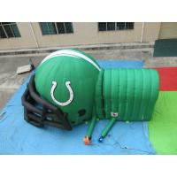 China customized printed inflatable football helmet tunnel,Inflatable Football Helmet Tunnel on sale