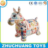 Wholesale color painting giant pvc inflatable cartoon animals ride horse from china suppliers