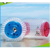 Wholesale PVC 1.0mm Inflatable Water Roller , Inflatable Rolling Ball For Adults / Kids from china suppliers