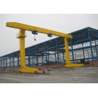 China Rail Mounted Single Beam Gantry Crane With Weight Overload Protection Device on sale