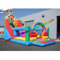Wholesale 0.55mm PVC Giant inflatable slide , cute clown attractive inflatable slide for kids from china suppliers