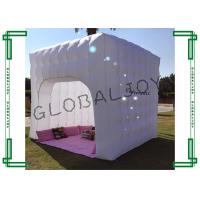 Quality Party Decorative White Inflatable Cube Tent Small With Led Light for sale