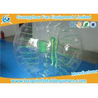 China Funny Transparent Inflatable Bubble Ball , Inflatable Grass Zorb Ball For Adults on sale