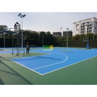 Quality Basketball Badminton Court PU Sports Flooring for sale