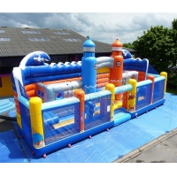 Wholesale Plato Inflatable Amusement Park Blow Up Bouncy Castle Combo from china suppliers