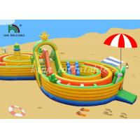 Wholesale Bright Color Inflatable Combo Playground Multiplay Amusement Field For Kids from china suppliers