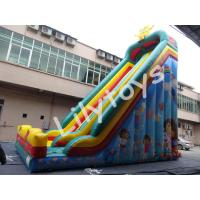 Wholesale inflatable high slide , Double and quadruple stitched , fireproof tarpaulin from china suppliers