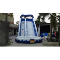 Wholesale 0.55mm PVC Blue Adults And Kids Playground Commercia Giant Inflatable Water Slide For Party from china suppliers