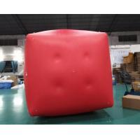 Quality Military Inflatable Swim Buoys Gunnery Practice Square Shaped Red Color for sale