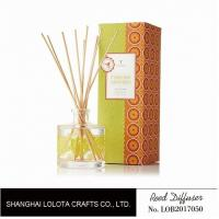 Wholesale Clear Round Bottle Long Lasting Reed Diffuser , Room Scents Reed Diffuser from china suppliers