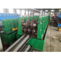 Wholesale W shape Highway Guardrail Roll Forming Machine , Guardrail Roll Forming Machine1.5'' chain from china suppliers