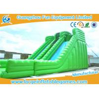 China Green Dry Wet Slide Cheap Ocean Wave Inflatable Water Slide / Used Water Slides For Sale on sale
