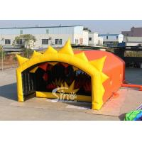 China Outdoor 13x6m Stars Tunnel Adults Inflatable Obstacle Course With Tent Cover For Inflatable 5k Run on sale