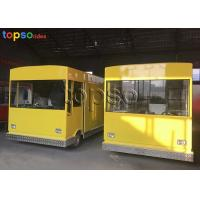 Quality Customized Mobile Food Trailer Theme Park Food Truck Vendors 3 Layers Flooring for sale