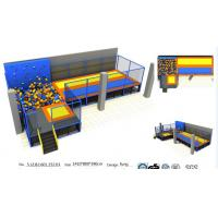 China Senjun 112M2 Large Indoor Trampoline Park/ China  Bungee Park With Clambing Wall for Commercial on sale