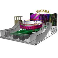 Wholesale 14kw Power Amusement Park Rides Crazy Disco Ride 24 Riders With Trailer from china suppliers