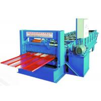Wholesale 0.5-0.8mm Thick Roof Tile Roll Forming Machine 8-10m/ min For Construction Steel from china suppliers