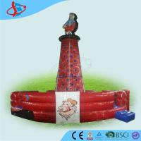 China Printing Red Customized Funny Inflatable Climbing Wall For Kids on sale